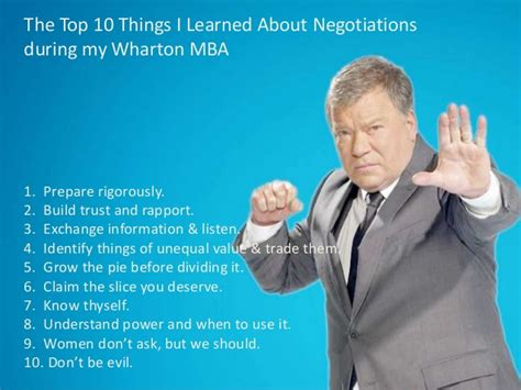 What I Learned From My Mba by The 10 Things I Learned About Negotiations During My