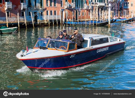 pictures of police boats police boat in venice italy stock editorial photo