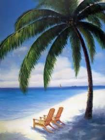 Beach Chair With Umbrella Painting » Home Design 2017