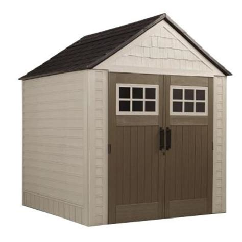 Home Depot Storage Sheds Rubbermaid rubbermaid 7 ft x 7 ft big max storage shed 1887154