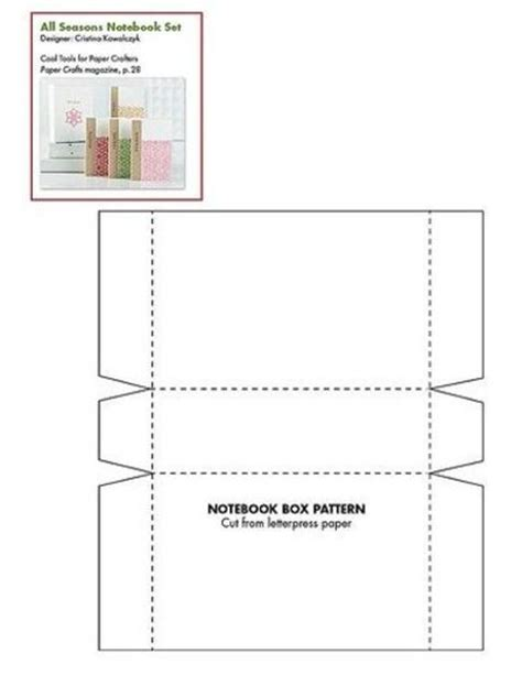 Papercrafts Connection - the neatest notebook box free pattern template