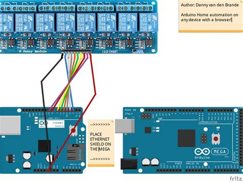 arduino mega 2560 home automation with 8 channel relay