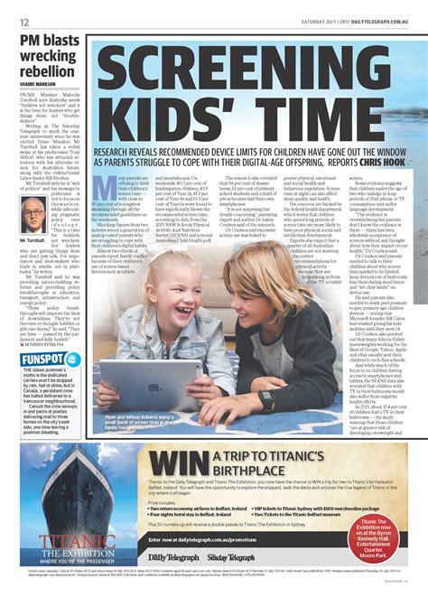 Daily Telegraph Articles Kehagias daily telegraph article screening kid s time dr rosina