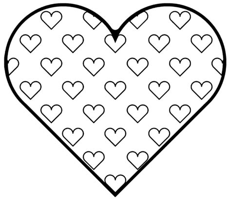 coloring page of a heart valentine hearts coloring pages free heart printables
