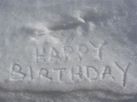 Snow Happy quot happy birthday from the snow quot by currage redbubble