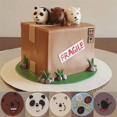 bare bears themed birthday cake bearstack