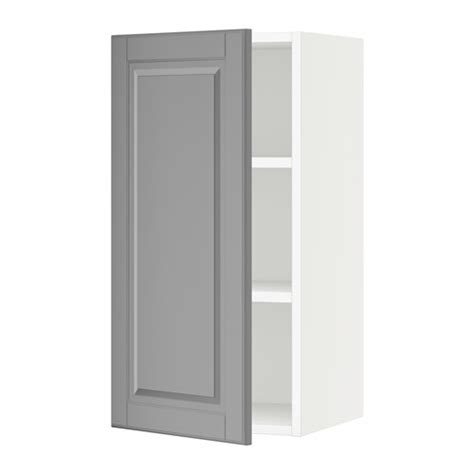 ikea wall cabinets kitchen sektion wall cabinet white bodbyn gray 15x15x30 quot ikea