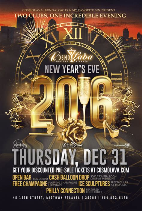 atlanta new years events discount tickets for new year s 2016 at cosmolava