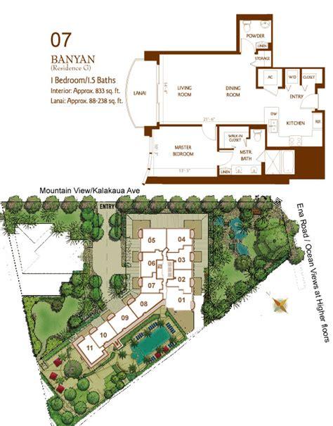 waikiki banyan floor plan allure waikiki hawaii ocean club realty group