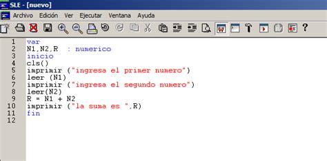 sle c program nekotic algoritmos y pseudocodigo con sle