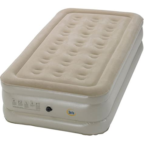 serta raised air bed with external ac sizes