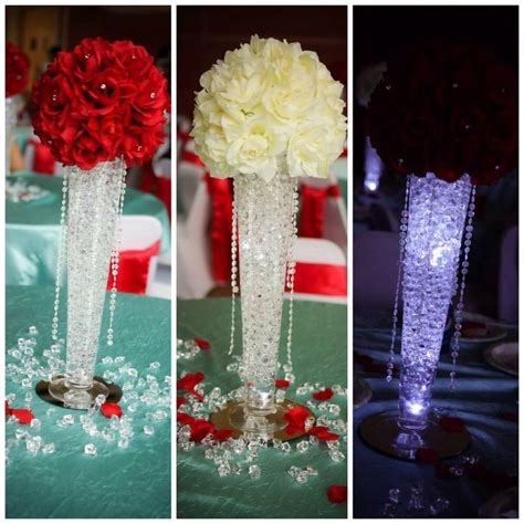 quinceanera themes for color red my daughter s quinceanera centerpieces theme was quot bling