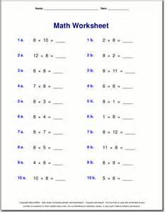 Table Of 8 Multiplication Worksheets For Grade 3