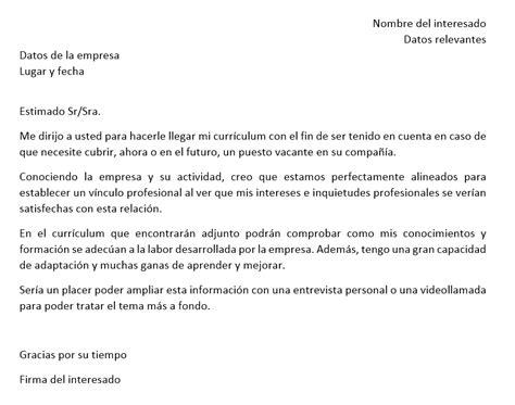Modelo De Carta De Presentaci N De Un Curriculum la carta de presentaci 243 n en 2 ejemplos