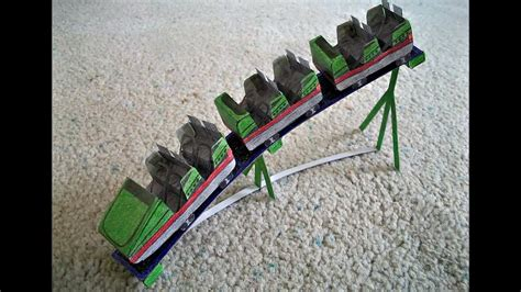 How To Make Coasters Out Of Paper - paper model of a roller coaster