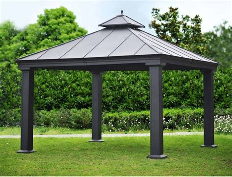 Outdoor Canopies And Gazebos Royal Hardtop Gazebo Contemporary Gazebos By Sam S Club