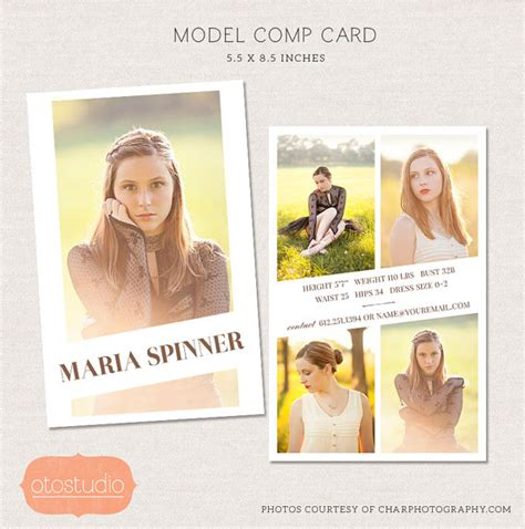 Comp Card Template Adobe Photoshop by 50 Sale Model Comp Card Photoshop Template Editorial