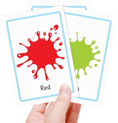 color flash cards free colour flashcards for totcards