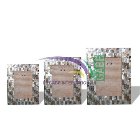 Pigura Kerang pigura kerang laut set 3 putih toko gabe handicraft