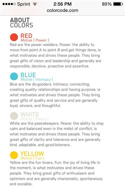 color code personality color code personality science psychology personality