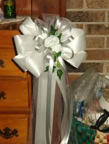 pew decorations for wedding 10 white silver pew bows wedding decorations bridal
