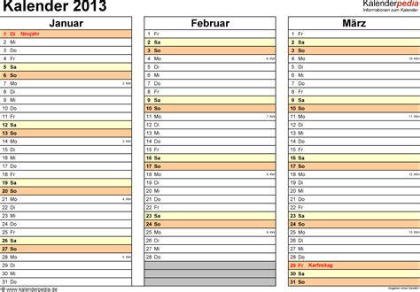 Kalender Online Drucken Monat by Kalender 2013 Excel Zum Ausdrucken 12 Vorlagen