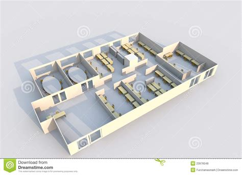 3d office floor plan 3d office plan royalty free stock photos image 23976048