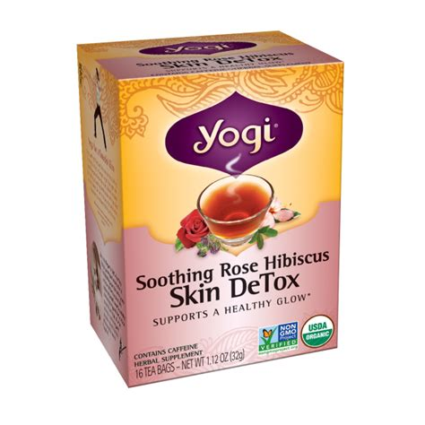 Yogi Detox Tea Healthy Cleansing Formula by Yogi Tea Skin Detox 16 Bag S Swanson Health Products