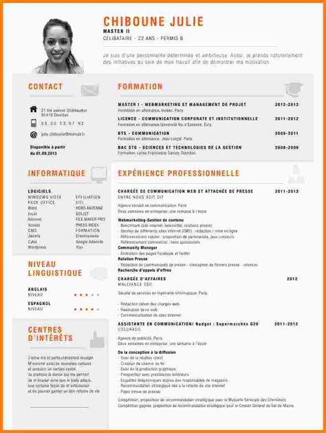 Un Bon Cv Exemple by Faire Un Cv Exemple Comment Faire Un Cv Exemple Gratuit