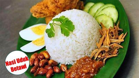 resep untuk membuat nasi uduk resep cara membuat nasi uduk betawi enak praktis