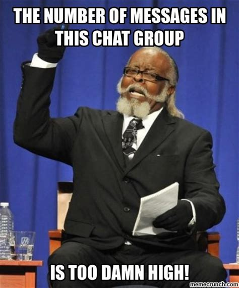 Group Message Meme - chat group messages