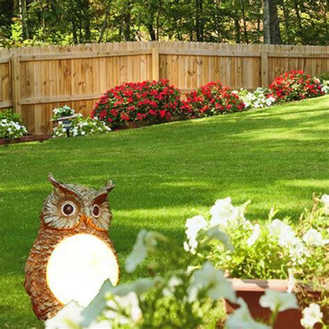 Solar Powered Garden Decor Solar Powered Owl Led Light Outdoor Garden Decor Statue Landscape L Alex Nld