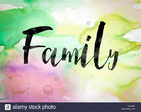 another word for colorful the word quot family quot written in black paint on a colorful