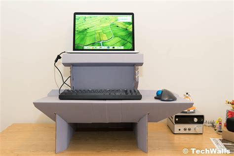 cardboard standing desk ergodriven spark cardboard standing desk review the