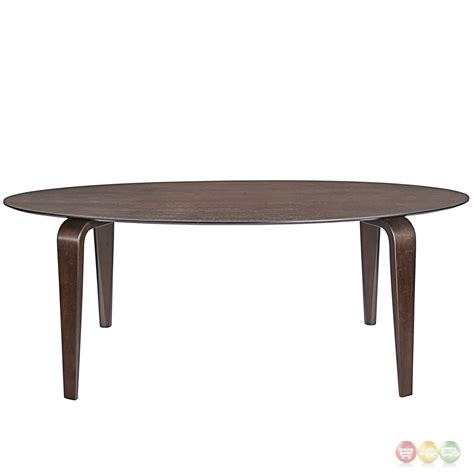 Contemporary Wooden Dining Table Event Contemporary Oval Shaped Wood Dining Table Walnut