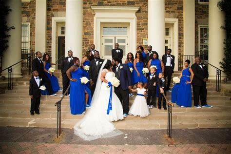 our royal blue and white wedding bridal party morgan