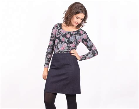 sewing a denim skirt and cosy top sew essential