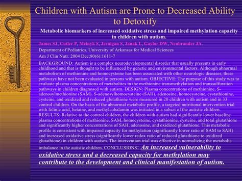 How To Detox A Child With Autism by 2009 10 11 Biological Plausibility Of A Relationship