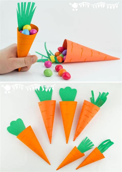 Easter Paper Crafts For - easy carrot easter baskets easter baskets carrots and