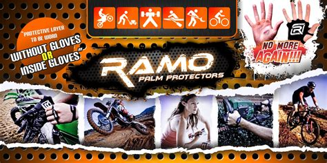 Palm Protector Ramo ramo pro palm protector for safety sports mx biking palm protector anti blistering