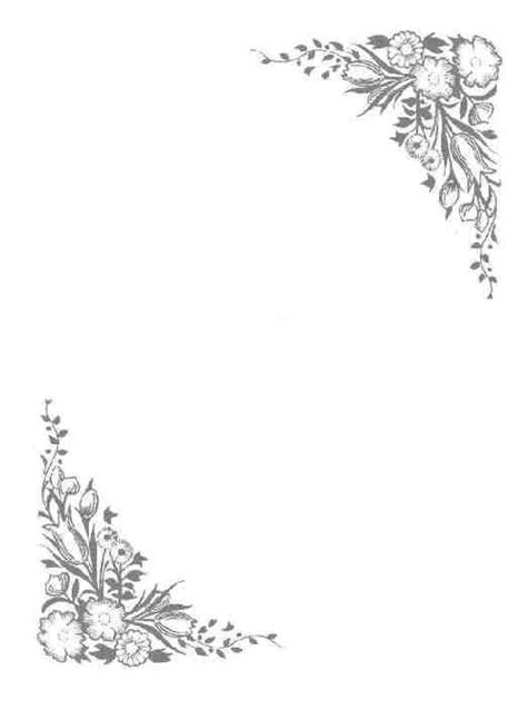 Flowered corners   Wiccan: BOS Blank Decorative Pages