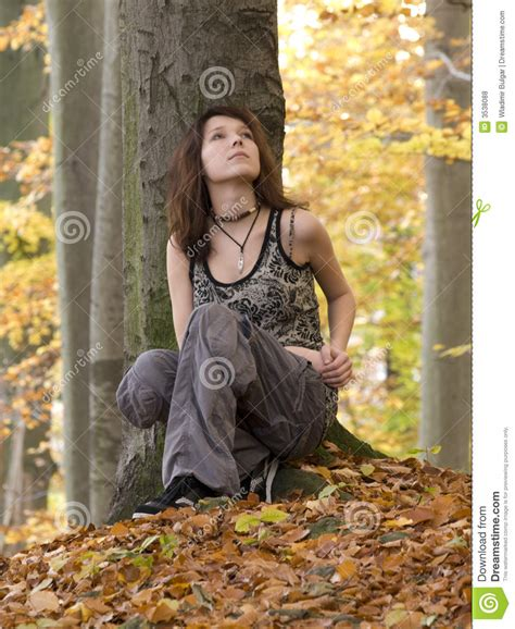 0008288607 the girl in the woods girl in wood stock photo image of young beauty park