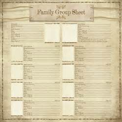 Printable family group sheet template success