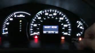2009 Prius Brake System Warning Light 2007 Camry Hybrid Maintenance Required Light Reset