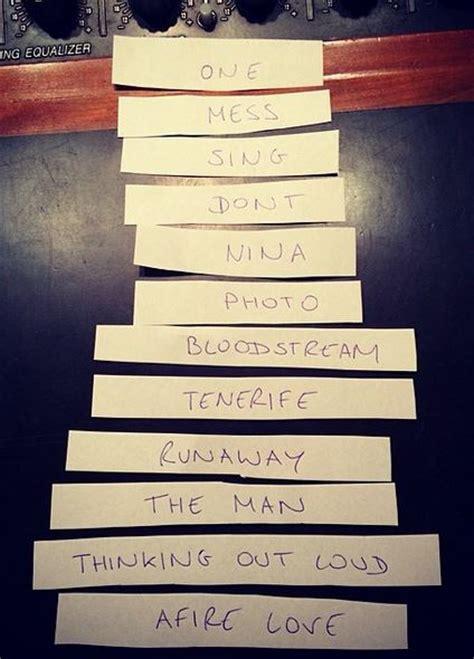 testo e traduzione lego house ed sheeran x 232 il nuovo album ecco la tracklist