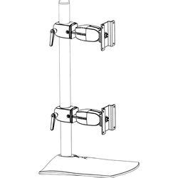 ds100 dual monitor desk stand vertical ergotron ds100 dual monitor vertical desk stand 33 091 200 b h