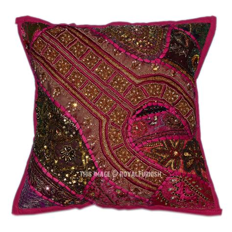 beaded throw pillows pink decorative accent vintage beaded throw pillow sham