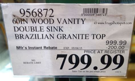 Costco Granite Countertops Price by Mission Wood Vanity Sink With