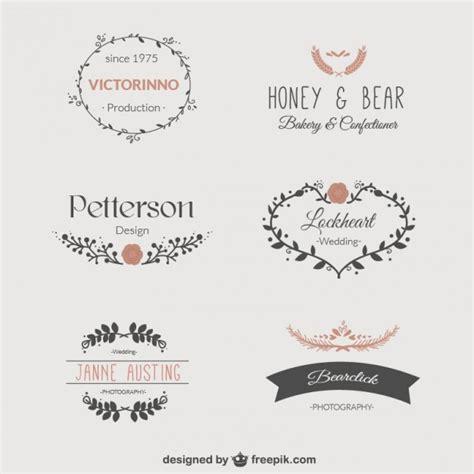 logos free templates floral templates set of logos vector free