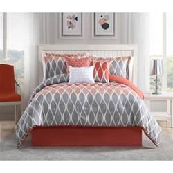 clarisse coral grey white 7 king comforter set